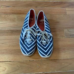 Kate spade keds striped sneakers 9.5